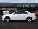 2010 White Platinum Tri-coat Metallic Ford Fusion SEL V6 #42596756