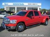 2008 Flame Red Dodge Ram 3500 SLT Mega Cab Dually #42596803