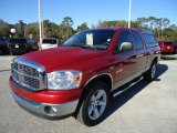 2008 Inferno Red Crystal Pearl Dodge Ram 1500 Big Horn Edition Quad Cab #42597121