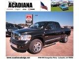 2008 Brilliant Black Crystal Pearl Dodge Ram 1500 Laramie Quad Cab #42596566