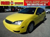 2005 Egg Yolk Yellow Ford Focus ZX3 S Coupe #42597139