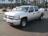 2011 Sheer Silver Metallic Chevrolet Silverado 1500 LS Crew Cab #42597151