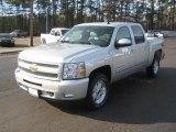 2011 Sheer Silver Metallic Chevrolet Silverado 1500 LT Crew Cab 4x4 #42597152