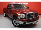 2008 Inferno Red Crystal Pearl Dodge Ram 1500 Lone Star Edition Quad Cab #42596902