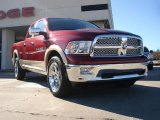 2011 Deep Cherry Red Crystal Pearl Dodge Ram 1500 Laramie Quad Cab 4x4 #42596987