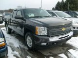 2011 Black Granite Metallic Chevrolet Silverado 1500 LT Extended Cab 4x4 #42681532