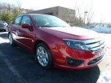 2011 Red Candy Metallic Ford Fusion SE #42726228