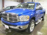2008 Electric Blue Pearl Dodge Ram 1500 Big Horn Edition Quad Cab 4x4 #42753094