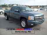 2011 Blue Granite Metallic Chevrolet Silverado 1500 LT Extended Cab 4x4 #42752901