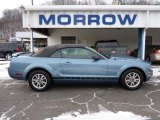 2005 Windveil Blue Metallic Ford Mustang V6 Deluxe Convertible #42752557