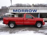 2008 Victory Red Chevrolet Silverado 1500 LS Regular Cab 4x4 #42752565