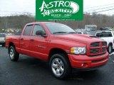2003 Flame Red Dodge Ram 1500 SLT Quad Cab 4x4 #42753176