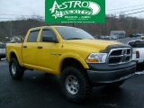 2009 Detonator Yellow Dodge Ram 1500 SLT Crew Cab 4x4 #42753177