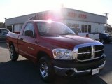 2007 Flame Red Dodge Ram 1500 SXT Regular Cab #4276135