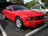 2007 Torch Red Ford Mustang V6 Deluxe Coupe #42808905