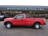 2010 Vermillion Red Ford F150 XL Regular Cab 4x4 #42809375