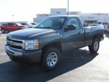 2011 Steel Green Metallic Chevrolet Silverado 1500 LS Regular Cab 4x4 #42928578