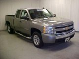 2008 Graystone Metallic Chevrolet Silverado 1500 Work Truck Extended Cab #42928633