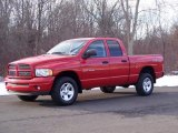 2002 Flame Red Dodge Ram 1500 Sport Quad Cab 4x4 #42990318