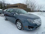 2011 Steel Blue Metallic Ford Fusion SE #42990049