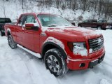 2011 Race Red Ford F150 FX4 SuperCab 4x4 #42990054