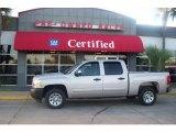 2008 Silver Birch Metallic Chevrolet Silverado 1500 LS Crew Cab #4292038