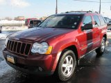 2008 Red Rock Crystal Pearl Jeep Grand Cherokee Laredo 4x4 #42990925