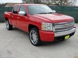 2008 Victory Red Chevrolet Silverado 1500 LT Crew Cab #42990249