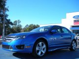2011 Blue Flame Metallic Ford Fusion Sport #42990000