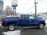 2011 Laser Blue Metallic Chevrolet Silverado 1500 LT Extended Cab 4x4 #43079892