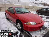2002 Bright Red Chevrolet Cavalier Coupe #43079745