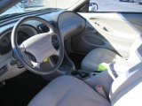 2000 Ford Mustang V6 Coupe Medium Graphite Interior