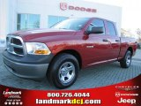2009 Inferno Red Crystal Pearl Dodge Ram 1500 ST Quad Cab #43080071