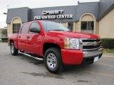 2007 Victory Red Chevrolet Silverado 1500 LS Crew Cab #43080335