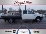 2007 Bright White Dodge Ram 3500 SLT Quad Cab 4x4 Dually Chassis #43079850