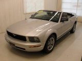 2005 Satin Silver Metallic Ford Mustang V6 Deluxe Convertible #43145631