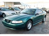 2000 Amazon Green Metallic Ford Mustang V6 Coupe #43145466