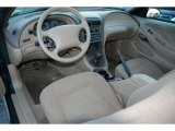 2000 Ford Mustang V6 Coupe Medium Parchment Interior