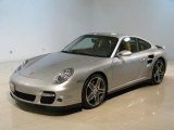 2008 Arctic Silver Metallic Porsche 911 Turbo Coupe #43183916