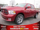 2011 Deep Cherry Red Crystal Pearl Dodge Ram 1500 Sport Crew Cab #43184693