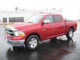 2010 Inferno Red Crystal Pearl Dodge Ram 1500 SLT Crew Cab #43184977