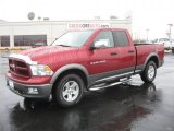 2011 Deep Cherry Red Crystal Pearl Dodge Ram 1500 SLT Outdoorsman Quad Cab #43184987