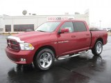 2011 Deep Cherry Red Crystal Pearl Dodge Ram 1500 Sport Crew Cab 4x4 #43184989