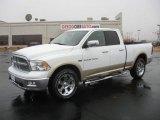 2011 Bright White Dodge Ram 1500 Laramie Quad Cab 4x4 #43184991