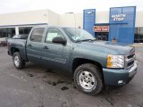 2011 Blue Granite Metallic Chevrolet Silverado 1500 LT Crew Cab 4x4 #43184757