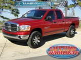 2006 Inferno Red Crystal Pearl Dodge Ram 1500 Big Horn Edition Quad Cab 4x4 #43185294