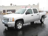 2011 Sheer Silver Metallic Chevrolet Silverado 1500 LT Crew Cab #43185040