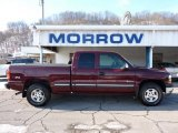 2002 Dark Carmine Red Metallic Chevrolet Silverado 1500 LS Extended Cab 4x4 #43184656