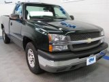 2004 Dark Green Metallic Chevrolet Silverado 1500 Regular Cab #43185106