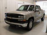 2002 Light Pewter Metallic Chevrolet Silverado 1500 LS Extended Cab 4x4 #43255003